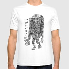 WHEN WHY ... HOW - REJOICE! White Mens Fitted Tee MEDIUM