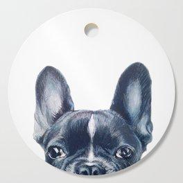 French Bull dog Dog illustration original painting print Cutting Board