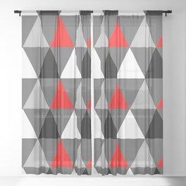 Abstract #363 Sheer Curtain