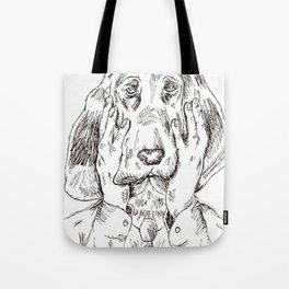 Sad Bloodhound Tote Bag