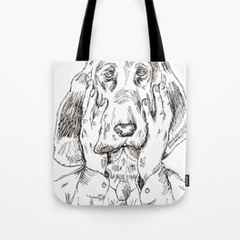 Sad Bloodhound Tote Bag