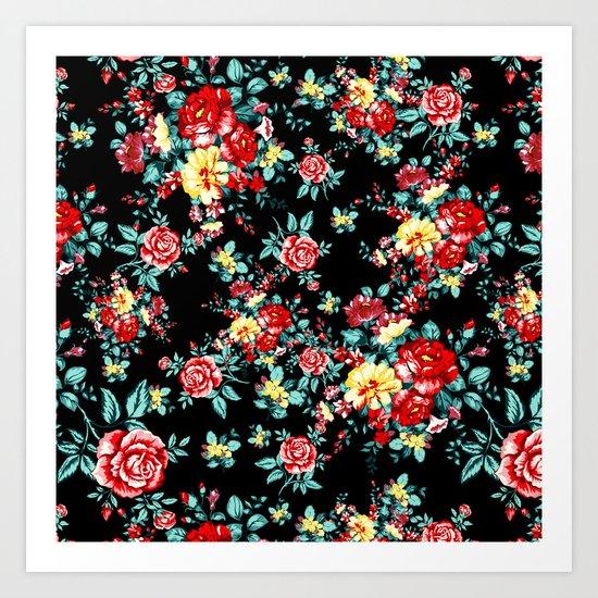Flowers Pattern Art Print