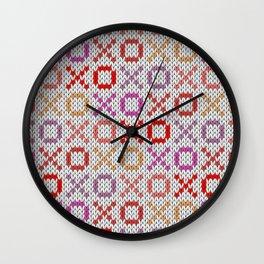 XOXO pattern - light Wall Clock