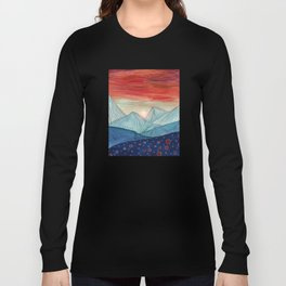 Lines in the mountains IV Long Sleeve T-shirt