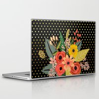 Laptop Skins featuring Flowers bouquet #2 by Juliana RW