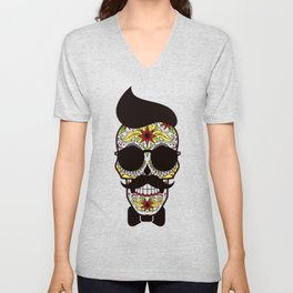 Mr. Sugar Skull Unisex V-Neck