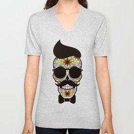 Mr. Sugar Skull Unisex V-Neck