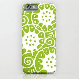 Lime Swirl Pattern | Swirl Pattern | Abstract Patterns | Green and White | iPhone Case
