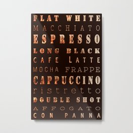 Coffee Connoisseur Metal Print