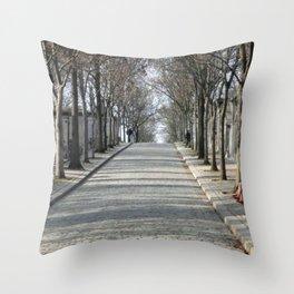 Never Ending Cemetary Throw Pillow