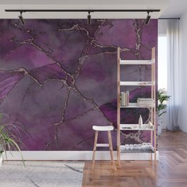 Pink Purple Marble Gemstone Luxury Wall Mural