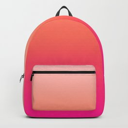 Gradient Ombre Living Coral Millennial Plastic Pink Pattern Peachy Orange Soft Trendy Cute Texture Backpack