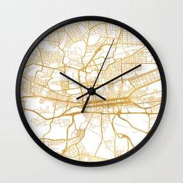 JOHANNESBURG SOUTH AFRICA CITY STREET MAP ART Wall Clock