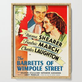 Movie Poster - The Barretts of Wimpole Street Serving Tray