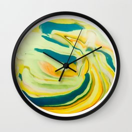 What The World Needs Now. Yellow Marble. Wall Clock