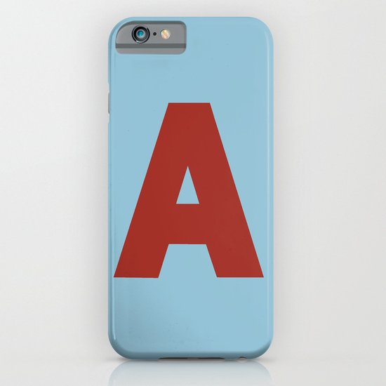 Red A iPhone & iPod Case