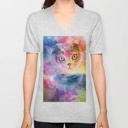 Staring Cat Eyes Unisex V-Neck