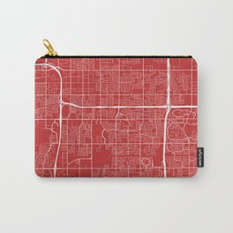 Tempe Map, USA - Red Carry-All Pouch