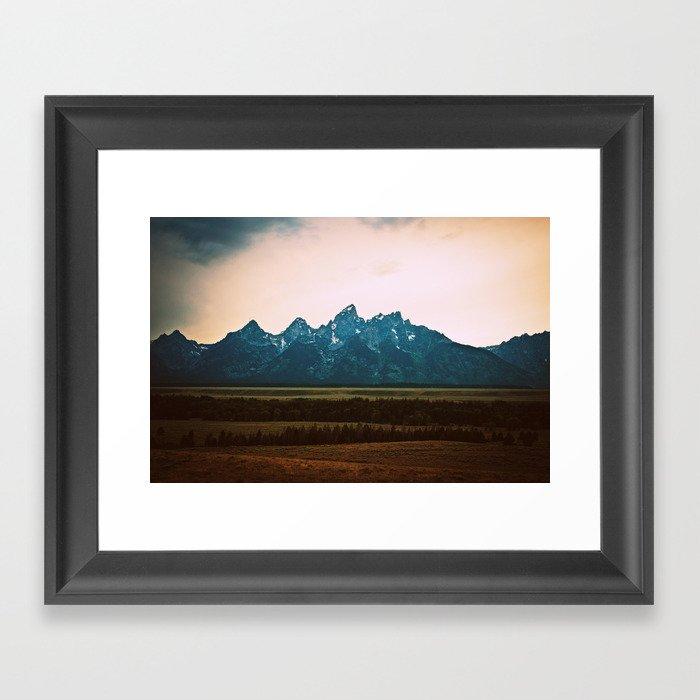 Tetons Framed Art Print