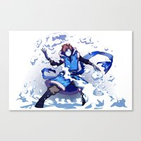 cryaotic Canvas Prints featuring Snow Bender Cryaotic by Gabbi