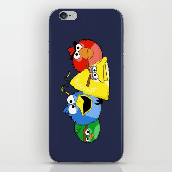 Angry Street Birds iPhone & iPod Skin