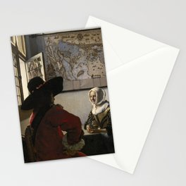 "Johannes Vermeer ""Soldier and a Laughing Girl"" Stationery Cards"