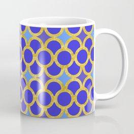 Blue Gold Scales Coffee Mug