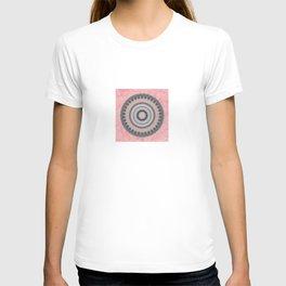 Pastel Pink Rose Textured Mandala T-shirt