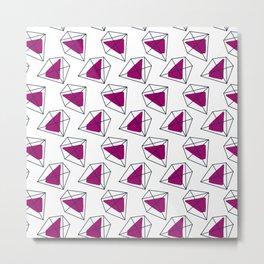 Contrast violet hexagons Metal Print