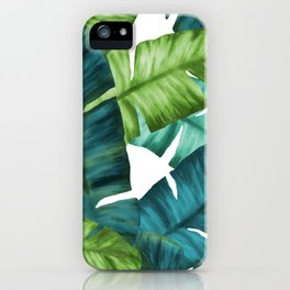 Tropical Banana Leaves Unique Pattern iPhone Case