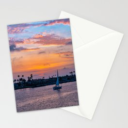 Home Port at Sunset Stationery Cards