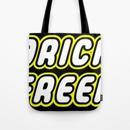 BRICK FREEK in Brick Font Logo Design by Chillee Wilson Tote Bag