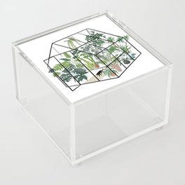 greenhouse with plants Acrylic Box