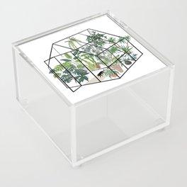 greenhouse with plants Acrylic Box