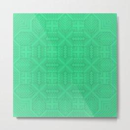 SUMNER (green) Metal Print