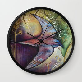 Taking Flight Wall Clock