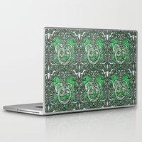 slytherin Laptop & iPad Skins featuring Slytherin by Cryptovolans