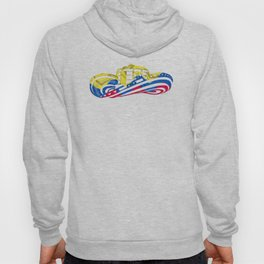 Colombian Sombrero Vueltiao in Colombian Flag Colors Hoody
