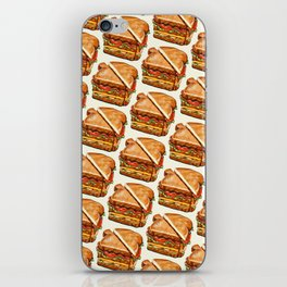Turkey Club on White iPhone Skin
