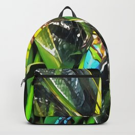 Blue Dragonfly Wings Backpack