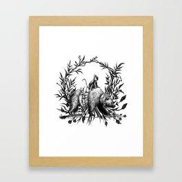 Monkey & Bear Framed Art Print