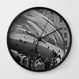 Chicago Clouds Wall Clock