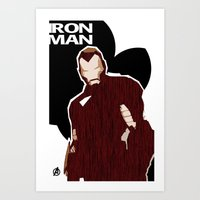 ironman Art Prints featuring Ironman by Duke Dastardly