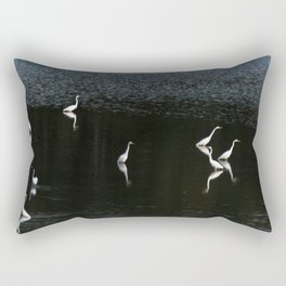 Egrets At Night Rectangular Pillow