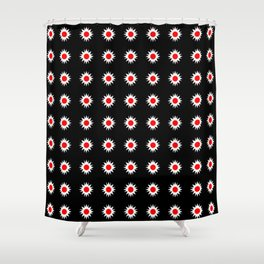 stars 47- red and white Shower Curtain