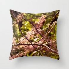 Pink flowery branches Throw Pillow
