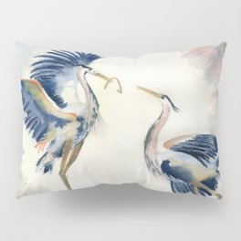 Great Blue Heron Couple Pillow Sham
