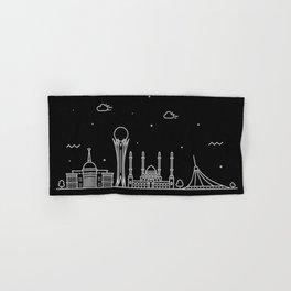 Astana Minimal Nightscape / Skyline Drawing Hand & Bath Towel