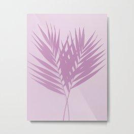 Palm Leaves #2 #Plum #decor #art #society6 Metal Print