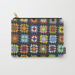 Crochet Granny Squares // Bright Carry-All Pouch